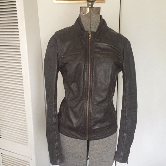 Mango Jackets Coats Genuine Leather Jacket Poshmark